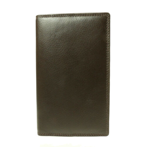 Mens Genuine Real Bifold Credit Card Holder Upright Suit Leather Wallet  614