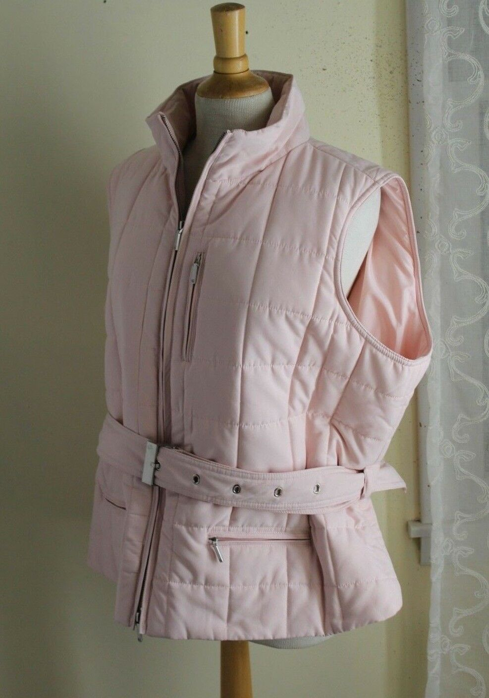 Ralph Lauren -Sz 2X Rich Powder Pink Quilted Vest - Medium-Weight -Mint