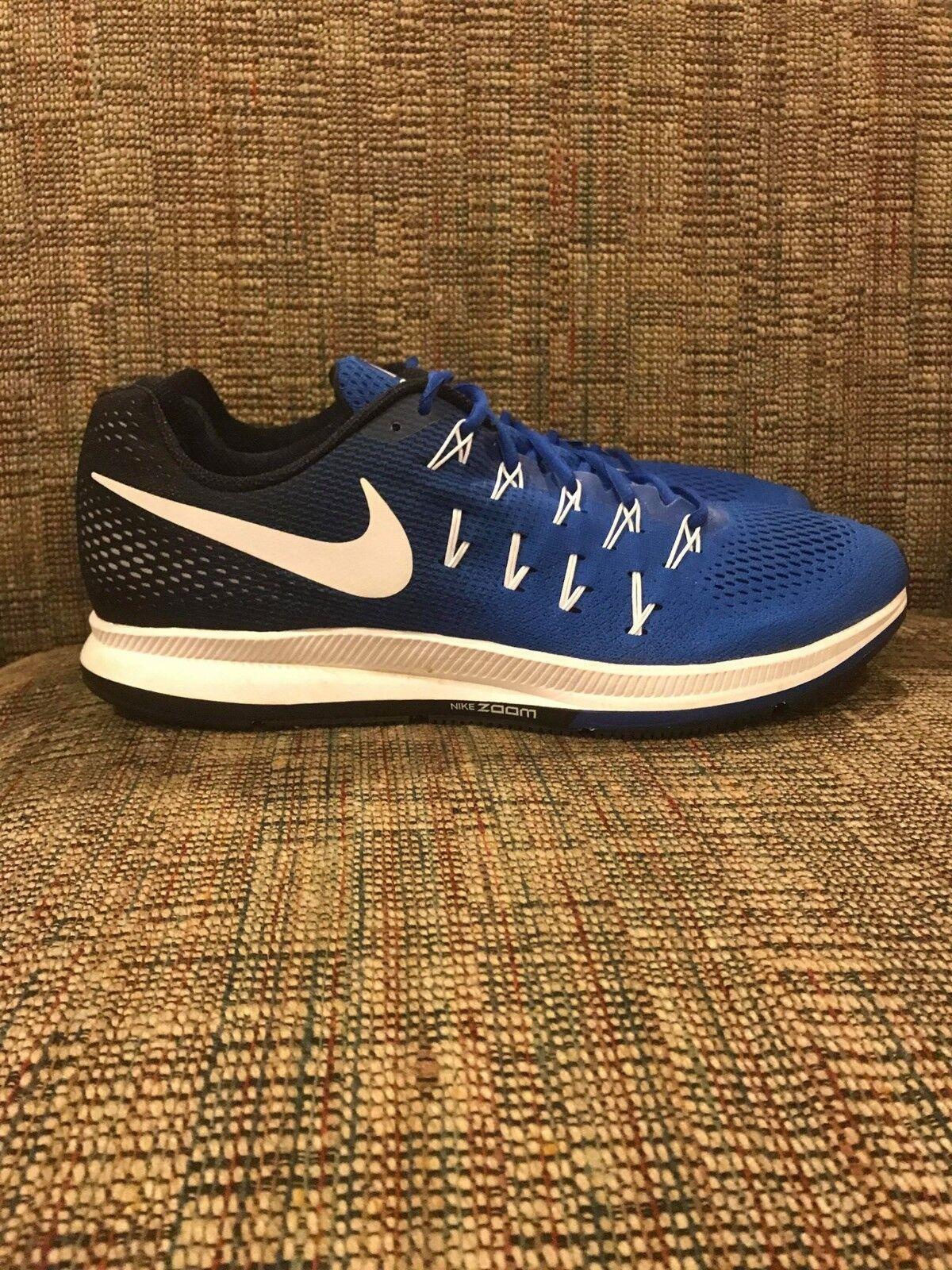 Nike Air Zoom Pegasus 33 TB Mens Running shoes. Men's Size 14. bluee White.