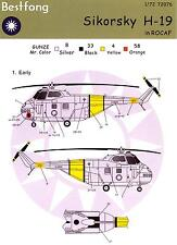 Bestfong Decals 1/72 SIKORSKY H-19 Republic of China Air Force
