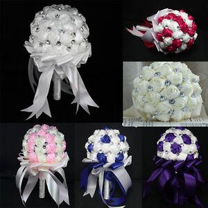 Fashion wedding bride bouquet brooch pearls silk diy for Aana decoration wedding accessories