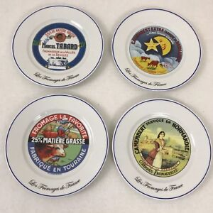 Image is loading Les-Fromages-de-France-Kiss-That-Frog-Cheese- & Les Fromages de France Kiss That Frog Cheese Plates Set of 4 | eBay