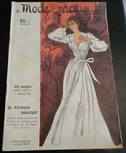 Magazine La MODE PRATIQUE  1er janvier 1951 n°1