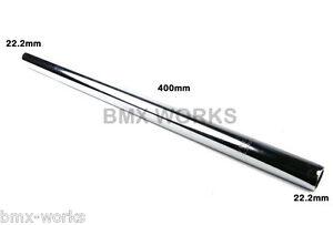 Old School Bmx Bike Chrome Straight Steel Seatpost  25.4mm x 22.2mm x 400mm Long