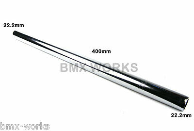 ProBMX Seat Post 25.4mm x 400mm Black Steel Straight Old School BMX Style