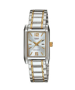 Casio-LTP1235SG-7A-Women-039-s-Enticer-Two-Tone-Stainless-Steel-Rectangular-Watch