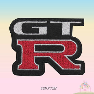 Nissan-GTR-Car-Brand-Logo-Embroidered-Iron-On-Patch-Sew-On-Badge-Applique