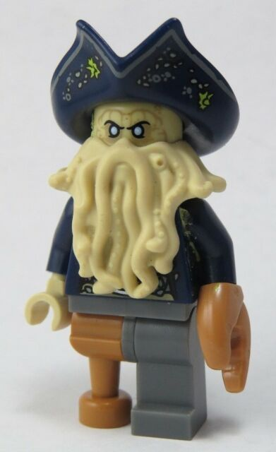 Lego Pirates Of The Caribbean Davy Jones Poc31 Minifigure 4184 Black