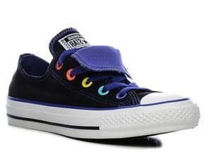 bef415c07503 Ladies Girls Converse Chuck Taylor All Star Double Tongue Womens ...