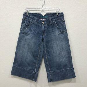 American-Eagle-Womens-Crop-Jeans-Distressed-Wide-Leg-Capris-Cotton-Size-6-R