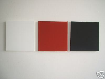 3 MODERN ART CANVAS PAINTINGS IN RED//WHITE//BLACK  30cm