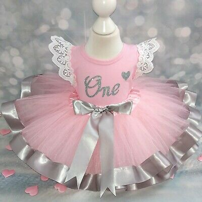Girls Third 3rd Birthday Outfit Tutu Cake Smash Photo Shoot Frilly Gift Party