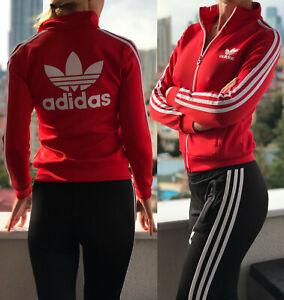 genuine shoes best prices classic fit Details zu Adidas Damen Vintage Rot Trainingsanzug Oberteil Schwarz  Hose,Klassischer Retro