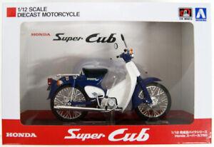 Aoshima-Skynet-05665-Honda-Super-Cub-50-Blue-1-12-Scale-Finished-Model