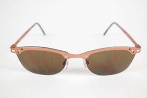 Vintage-Chiemsee-034-56-14-Braun-half-Rim-Sunglasses-NOS