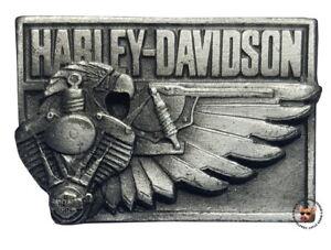 VINTAGE-HARLEY-DAVIDSON-V-TWIN-EAGLE-VEST-PIN-FREE-USA-SHIPPING-OBSOLETE