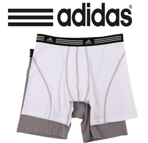 4629379180d9 Adidas Mens Athletic Stretch 2-Pack Boxer Brief (S) SMALL White Grey ...