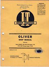 Iampt Shop Manual O 13 Oliver Tractors 99gmtc 950 990 995 770 880 Meac23