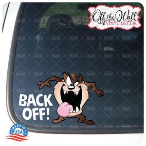 "Taz ""Back Off!"" Die-cut Printed Vinyl Sticker for Cars/Trucks"