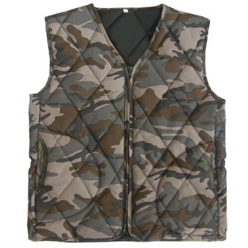 Mens Field Jacket Liners Winter Warm Inner Quilted Military Vest US XS-XL
