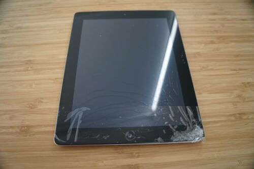 1 of 1 - 4/10 CRACKED SCREEN Apple iPad 2 64GB, Wi-Fi + 3G, 9.7in - Black Tablet AU STOCK