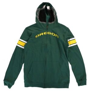 Oregon-Ducks-NCAA-Green-034-Helmet-034-Team-Full-Zip-Hoodie-Jacket-Youth