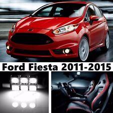 11pcs LED Xenon White Light Interior Package Kit for  Ford Fiesta 2011-2015