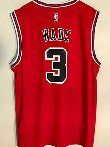 0d1c003a5 ... shop image is loading adidas nba jersey chicago bulls dwayne wade red  b5753 6e188