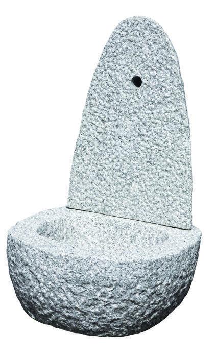 Fontaine rustique en granit pour le jardin H. 75 cm. - pierre naturelle