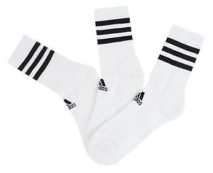 Adidas-Men-3S-Cushion-Crew-3-Pairs-Socks-White-Run-Casual-Fashion-Sock-DZ9346