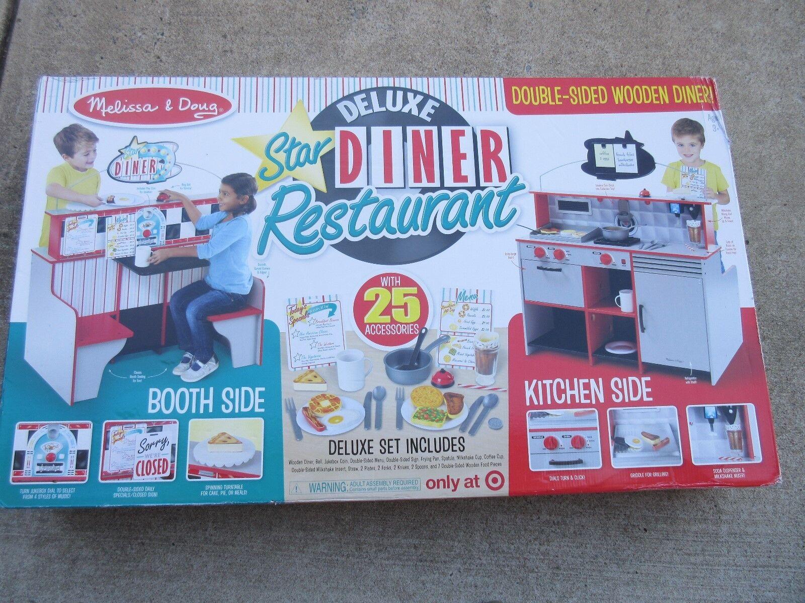 Melissa & Doug Deluxe Star Diner Restaurant Kitchen Booth 25 ...