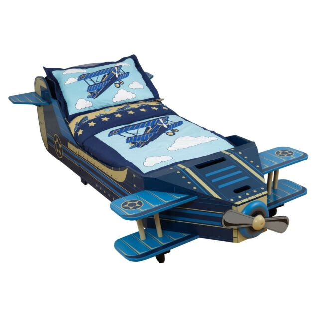 ordinary Kidkraft Airplane Toddler Bed Part - 2: KidKraft Airplane Blue Toddler Bed