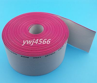 1M 40P gray flat ribbon cable 1.27mm pitch for 2.54mm Diameter 0.1mm connectors