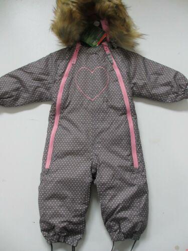 Racoon Schneeanzug Herz R0329-9227 DRAVA  Outdoor Suit Baby Girl NEU