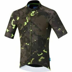 Shimano-Clothing-Men-039-S-Breakaway-Jersey-Neon-Green-Size-Large
