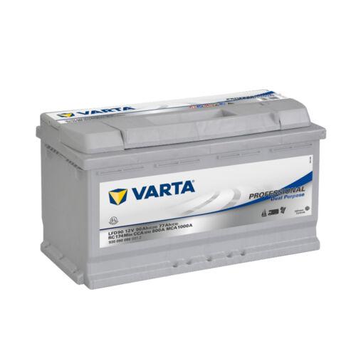 Batterie Varta LFD90 camping car 12v 90ah à decharge lente livraison rapide