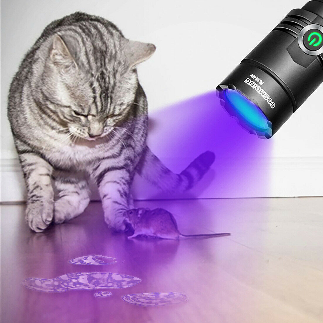 Image 8 - 395nm UV Light Blacklight Tactical LED Flashlight Rechargeable 18650 Torch Lamp