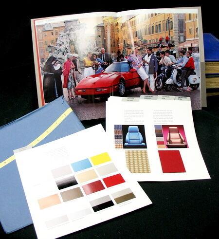 1986 car show corvette program / $5.00 price tag/ 45 page paint & fabric samples