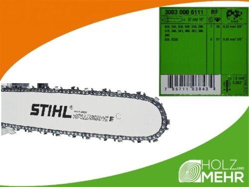 """3003 000 6111 neuf original Stihl rail de guidage rollomatic e 37cm 3//8/"""" 1,6mm"""