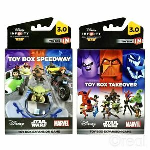 Disney Infinity 3 0 Toy Box Takeover Or Speedway Expansion Game Official Ebay