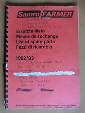 Ersatzteilliste Samro Farmer Kartoffel-Vollernter Ausgabe 1982/1983 parts list