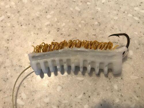 Pack of 12 White Woolyback Catfish Dip Bait Stinkbait Worms w// Single Hook