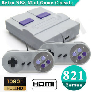 821-games-in-1-Retro-Classic-Mini-NES-Console-HDMI-output-with-2-Controllers-TV