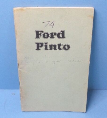 74 1974 Ford Pinto owners manual