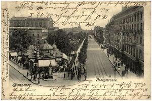 1902-Stempel-HANNOVER-auf-seltener-Postkarte-Georgstrasse-mit-Cafe-Kroepcke-AK