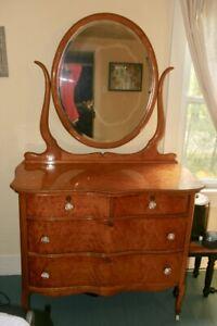 Antique Birdseye Maple Dresser With
