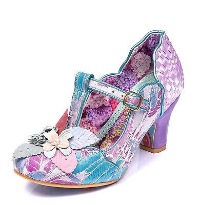 Purple Mid Heel Shoes