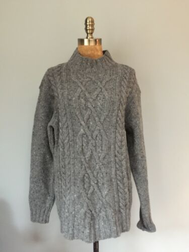 en douce gris Pull clair torsadé laine 40 tweed 'irelandseye' Nwt qfIPOxSwEn