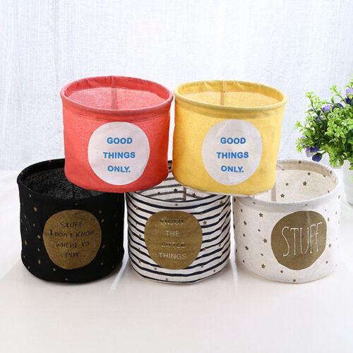 Foldable Stripe Storage Bin Closet Toy Box Container Organizer Cloth Basket S