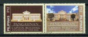 Filippine-2018-Gomma-integra-non-linguellato-pangasinan-CAPITALE-Edificio-CENT-2v-Set-ARCHITETTURA